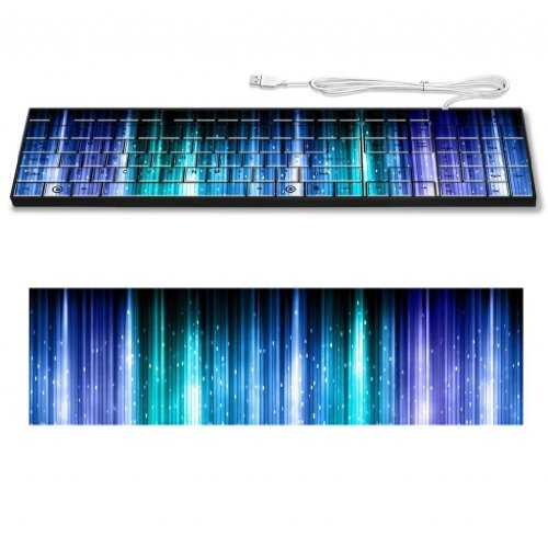 Blue Line Spectrum Colorful Light Keyboard Customized Made To Order Support Ready 16 7/8 Inch (430Mm) X 4 7/8 Inch (125Mm) X 15/16 Inch (25Mm) High Quality Liil Key Board Boards Desktop Laptop Key_Board Comfortable Computer Accessories Cute Gaming Gear