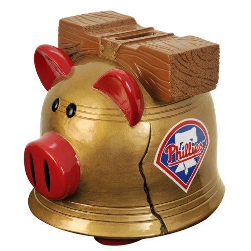 MLB Philadelphia Phillies Resin Large Thematic Piggy Bank - 1