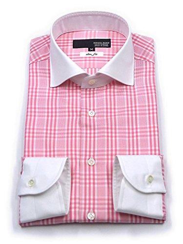 (ジョビアル ラッシュ) JOVIAL RUSH クレリックワイドカラードレスシャツ グレンチェック