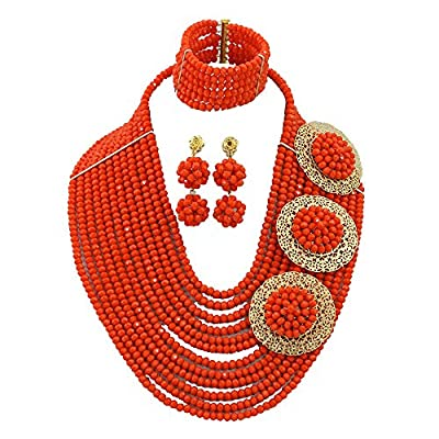 Africanbeads 12 Rows 6mm Nigerian Wedding Beads Crystal Jewelry Set Nigerian Jewelry Set African Jewelry Set