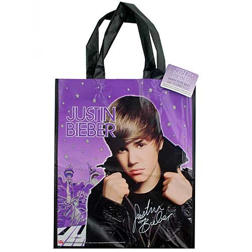 justin bieber birthday party theme. Justin Bieber Party Theme 13 x 11 Inches Plastic Tote Bag - Single