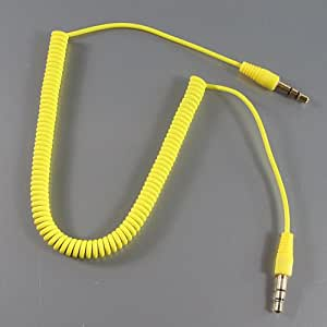 ZuGadgets Yellow 3.5mm to 3.5mm Cable / AUX Cable / Stereo Audio Cable /AV LINE / Mini-plug Cable (40-1.2CM) (7586-3)