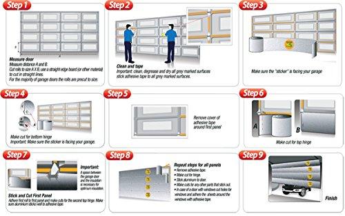 Smartgarage Reflective Garage Door Insulation Kit 18 39 Wx7 39 H