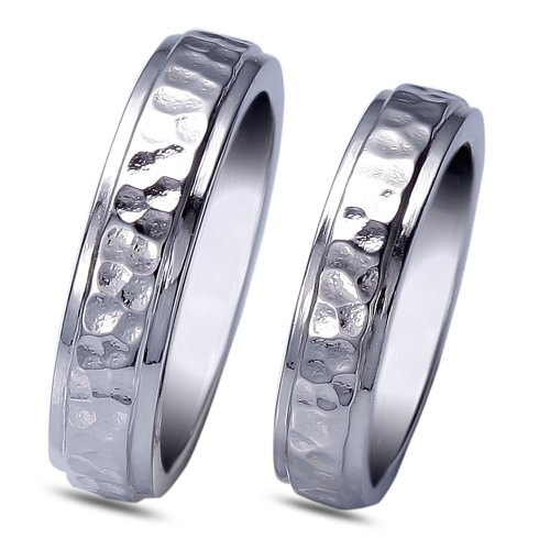 Ziveg 92.5 Sterling Silver Couple Bands Made With Swarovski Zirconia Zsc0003005