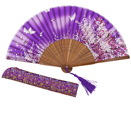 Amajiji® Chinese Vintage Retro Style Handheld Folding Fan (ZJ-05)
