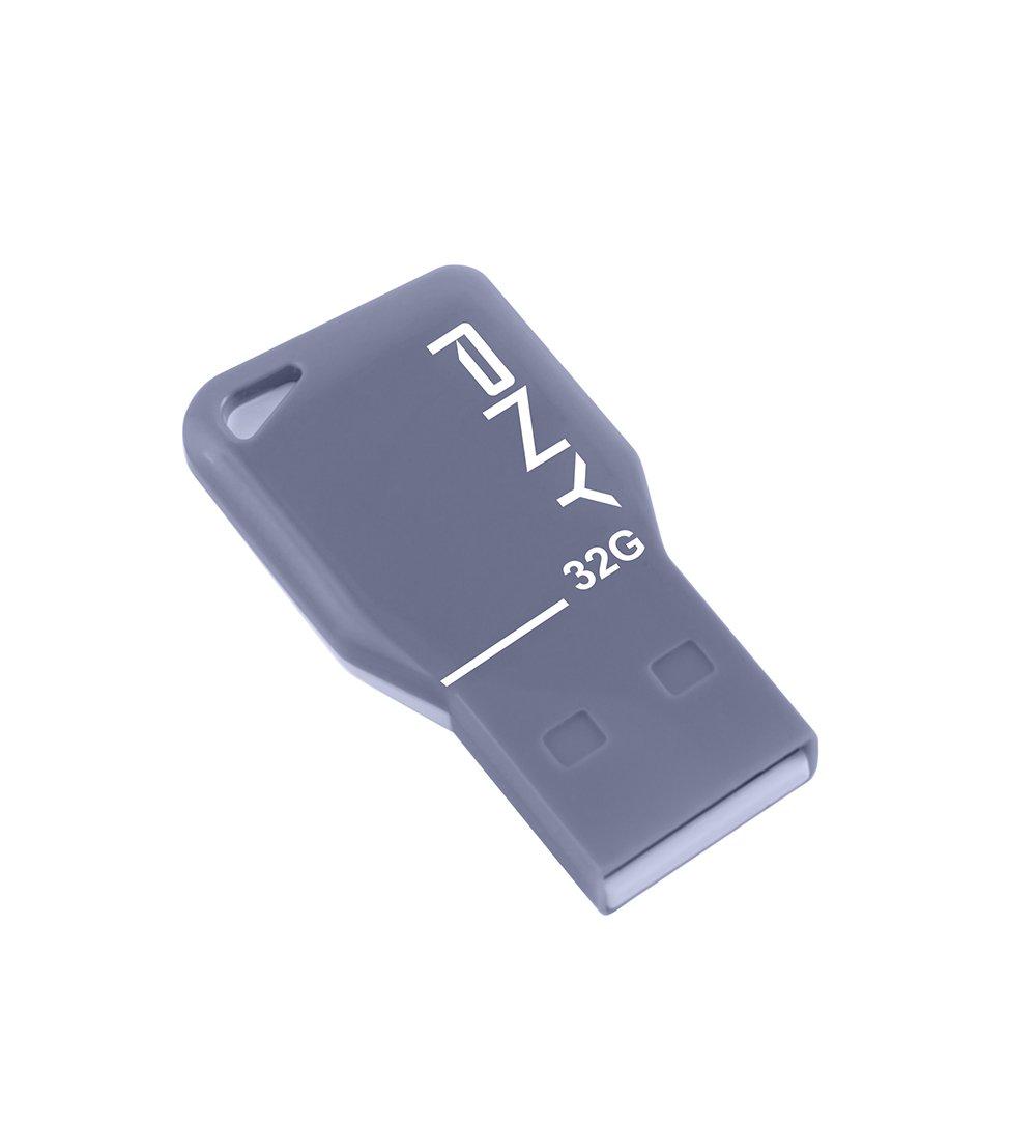 Cl� USB PNY ATTACHE FDU32GBKEYGRYEF GRIS 32GO