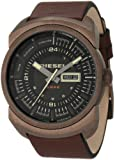 Diesel Men's DZ4239 Brown Calf Skin Analog Quartz Watch with Black Dial