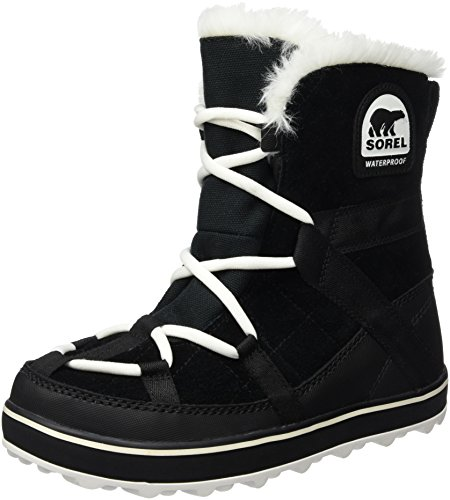 Sorel Glacy Explorer Shortie, Stivali da Neve Donna, Nero (Black 010Black 010), 37.5 EU