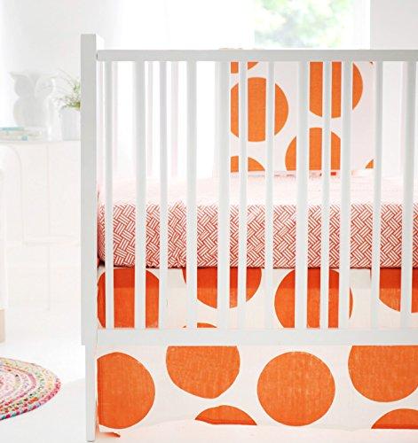 New Arrivals Crib Bed Set, Spot on Tangerine