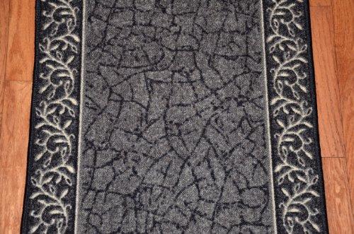 Dean Flooring Company Dean Washable Carpet Rug Runner Garden Path Black Pur