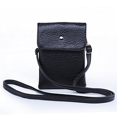 Women-Girls-Leather-Crossbody-Bag-Wallet-Purse-Cellphone-Pouch-w-Shoulder-Strap-for-iPhone-Samsung