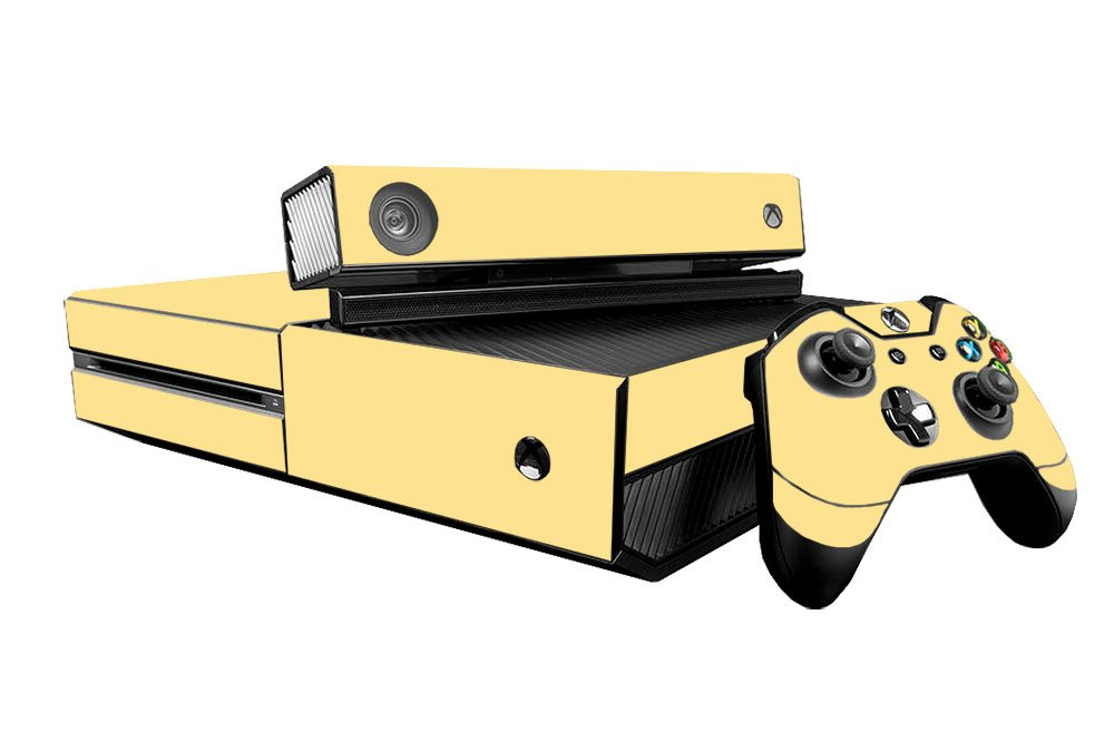 Microsoft Xbox One Skin (XB1) - NEW - COOL CREAM system skins faceplate decal mod wood grain oak 01 holiday bundle decal style skin set fits xbox one console kinect and 2 controllers xbox system sold separately