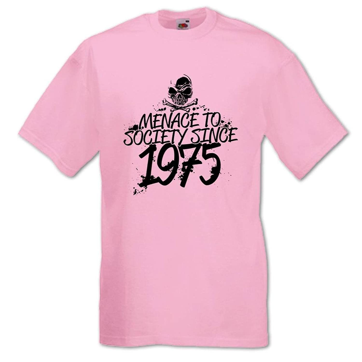 Men's Menace To Society Since 1975 40th Birthday T-Shirt