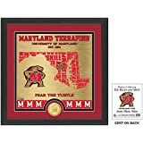 "NCAA Maryland Terrapins ""State"" Bronze Coin Photo Mint, 18 "" X 14"" X 3"", Bronze"