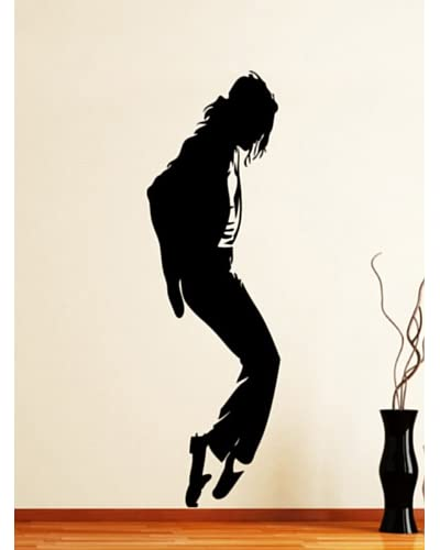 Ambiance Live Vinilo Decorativo Michael Jackson Moonwalk 2 Negro