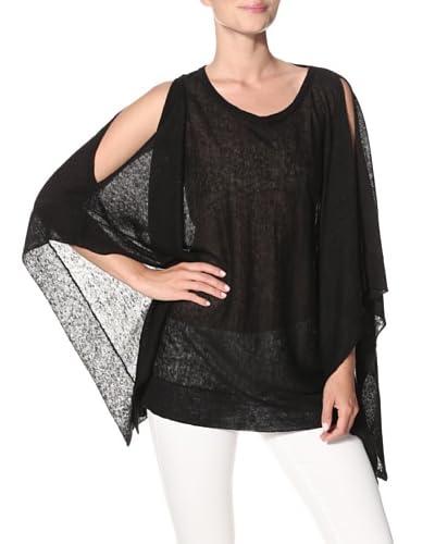 Acrobat Women's Cold Shoulder Poncho  [Black]