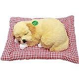 "Tplay Sleeping Puppy Golden Retriever Bark Dog Pet Toy With Mat 7. 6"""