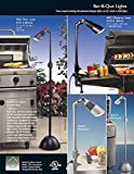 BBQ Light Outdoor Cooking & Grilling. Take Your Barbecue Tools & Grill Accessories To the Next Level Bright White Beam Allows You To See When The Meat is Cooked. Set it Up For the Shop, Garage or General Flood Light Use. Molded of Indestructible High Heat Composite Resin. Designed and Molded in Italy. Assembled in the USA!! (Platinum, Clamp)
