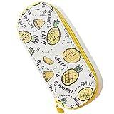 YY-Shop ペンケース ペンポーチ おしゃれ かわいい 大容量 高校生 シンプル ボックス 筆箱 筆入れ 男の子 女の子 ぺんバッグ 文具 フルーツ柄 (1パイナップル)