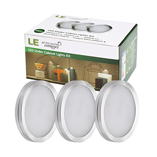 le led under cabinet lighting kit puck lights total of 6 watt cabinet lighting 6