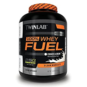 Twinlab 100% Whey Fuel Nutritional Shake, Cookies and Cream, 5 Pound