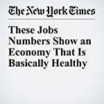 These Jobs Numbers Show an Economy That Is Basically Healthy | Neil Irwin