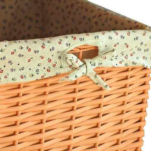 lounge-zone PID 5944 LISA - Taburete de ratán (incluye cesta extraíble altura de 45 cm) color naranja