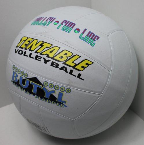 Volleyball gummiert official Größe 5, Beach Strand Volley Spiel Ball sehr griffig (weiß)