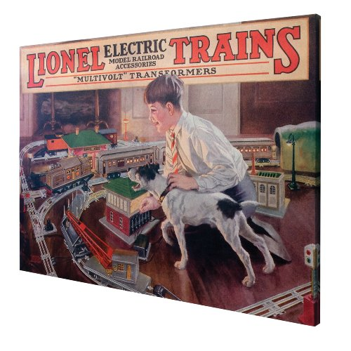 Lionel 1926 Catalog Cover Canvas Print, Medium