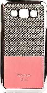 Purple Eyes Stone studded Diamond hard back Case for Samsung Galaxy E5 (Pink)