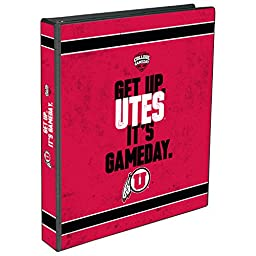 C.R. Gibson 3-Ring Binder, Utah Utes College Game Day - Horizontal (EC959620)