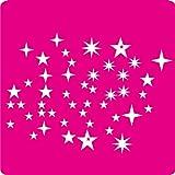 kleb-drauf-46-gemischte-Sterne-Pink-glnzend-Aufkleber-zur-Dekoration-von-Autos-Motorrdern-und-allen-anderen-glatten-Oberflchen-im-Auenbereich-aus-19-Farben-whlbar-in-matt-oder-glnzend