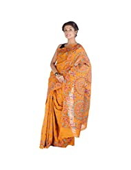 ELife Multi-Colored Cotton Silk Saree For Women - B00PK12IVS