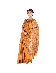 ELife Multi-Colored Cotton Silk Saree For Women - B00PK12IVS