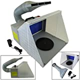 Portable Hobby Airbrush Paint Spray Booth Kit Exhaust Filter Odor Extractor Set Model