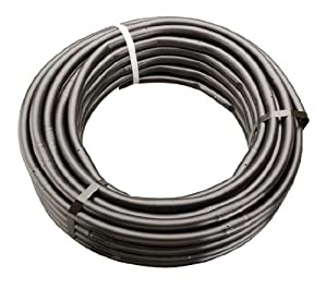 "1/2"" x 100' Soaker Hose Dripline 12"" Spacing 1 GPH PC In-Line Drip Irrigation Emitters - Black Soaker Hose"