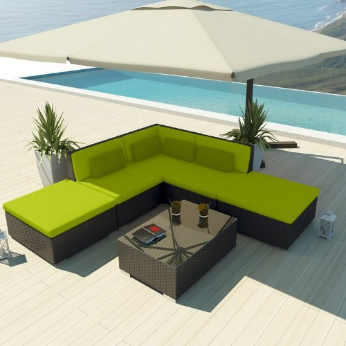 Uduka Outdoor Sectional Patio Furniture Espresso Brown Wicker Sofa Set Porto 6 Peridot All Weather Couch picture