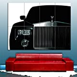 Rolls Royce Phantom Black Giant Poster Premium Wall Art Picture By Whatsonyourwall, Sized A3 or A0, Extra Large Quality Print On 250gms Glossy Card Paper A0