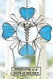 Nurse Suncatcher - Glass Suncatcher - Nursing Is a Work of Heart - Nurse Gifts - Rn - Nursing School - Nurse Graduation Gift