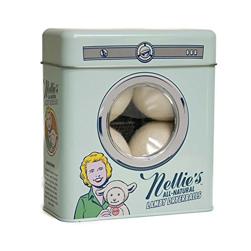 Nellie's All-Natural Lamby Wool Dryer Ball, Set of 4 by Nellie's Batten Industries