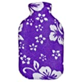 Warm Tradition PURPLE ORCHID FLEECE CHILDREN'S Covered Hot Water Bottle - Bottle made in Germany, Cover made in USA