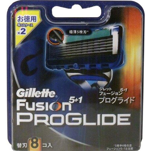 ジレット フュージョン5+1 プログライド 替刃 8個入