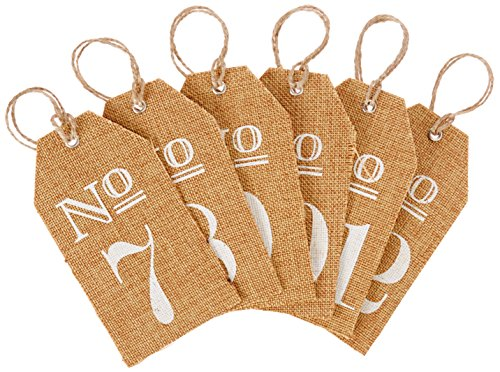 Kate Aspen Burlap Table Numbers: 7 to 12 (Burlap Number compare prices)