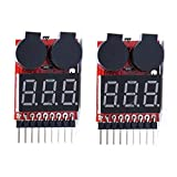2-Pack-KIMILAR-RC-Lipo-Akku-Niederspannung-Tester-Checker-1-s-8-s-Summer-Alarm-mit-LED-Anzeige-fr-RC-Hubschrauber-Quadrocopter