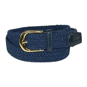 CTM Womens Elastic Braided Stretch Belt, Small, Navy