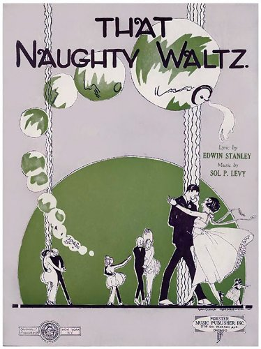 Clear Acrylic Keyring Key Ring Schlüsselanhänger Sheet Music That Naughty Waltz