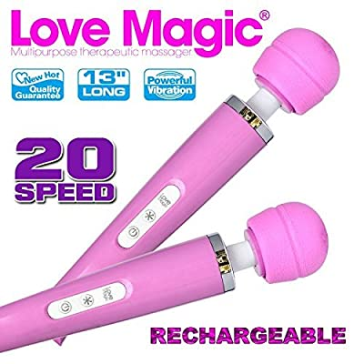 Love Magic Rechargeable Wand Massager -20 speed variations- Full money back guarantee
