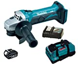 MAKITA 18V LXT BGA452 BGA452Z BGA452RFE ANGLE GRINDER, BL1830 BATTERY, DC18RC CHARGER AND LXT400 BAG - PF TRADE