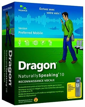 Dragon NaturallySpeaking Reconnaissance Vocale 10 (avec enregistreur numérique philips)