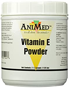 AniMed Vitamin E Powder Supplement for Horses, 2.5-Pound